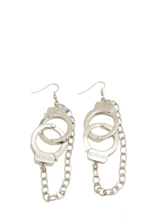 Chained Freedom Handcuff Earrings