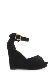 Wedge U In Faux Nubuck Wedges