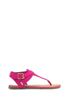 T-Strap Crisscrossed Sandals