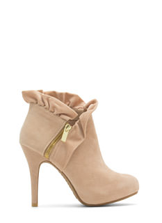 Ruffle Up Zippered Booties