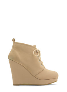 Get Laced Wedge Booties
