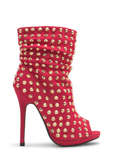 Spiked Punch Slouchy Studded Booties