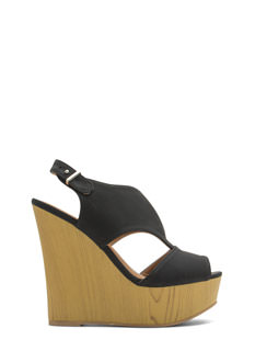 Wooden You Rather Split Top Wedges