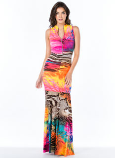 Splash Forward Scaled Mermaid Maxi