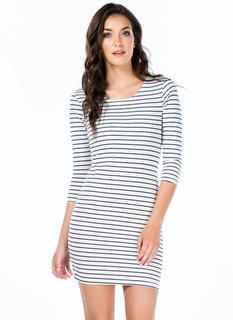 Stripe Up A Conversation Minidress