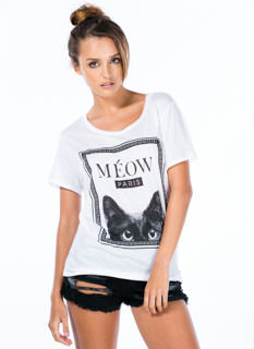 Cat's Meow Paris Chain Frame Tee