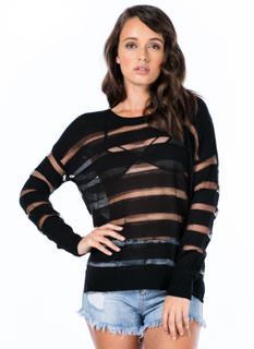 Sheer Thing Striped Sweater