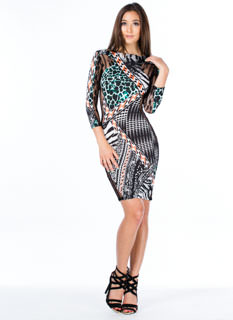 Lace The Facts Geo Hourglass Dress