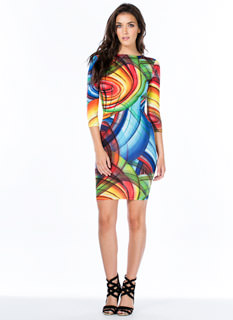 Give It A Swirl Bodycon Dress