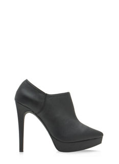 Point Of View Faux Leather Booties