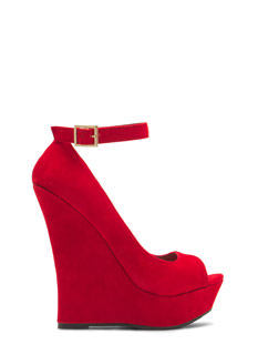 Velvety Soft Peep-Toe Wedges