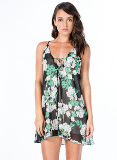 Leaf It To Me Floral Cami Shift Dress