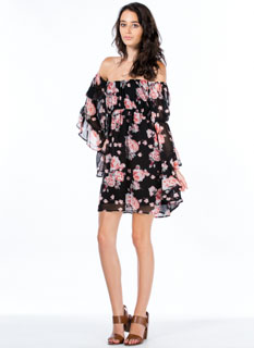 So Romantic Floral Bell Sleeve Dress