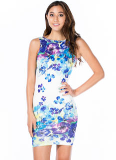 Flowers 4 U Sleeveless Bodycon Dress