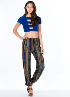 Down The Line Tribal Print Joggers