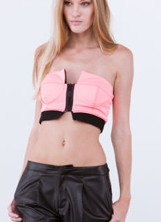 Headturner Colorblock Zippered Bra Top
