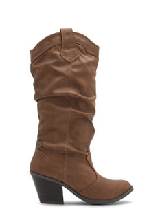 Do Slouch Distressed Chunky Boots
