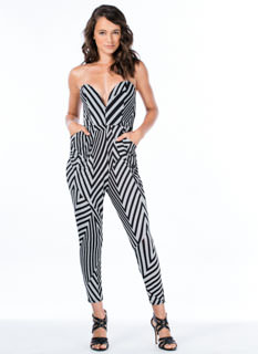 Layered Zigzags Printed Jumpsuit