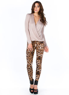 shredded leopard legging