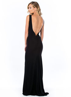 Ruche Back Mesh Inset Maxi Dress