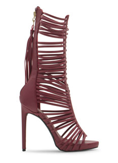 What A Tassel Tall Laddered Strap Heels