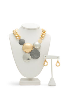 Domes And Medallions Chain Necklace Set