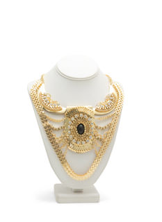 Metal Chains Egyptian Bib Necklace