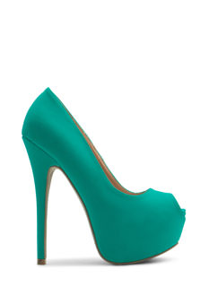 Smooth Criminal Faux Nubuck Heels