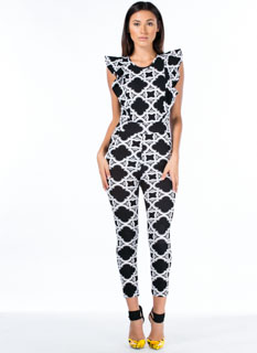 Come On Clover Ruffle Sleeve Jumpsuit