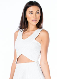 Sheen-Stealer Embossed Cropped Tank