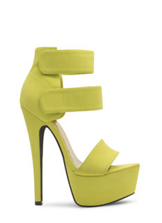 Double Trouble Strappy Platform Heels