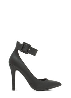 Buckle Down Pointy Toe Heels