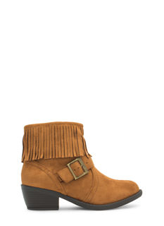 Fringe Benefits Buckled Boots
