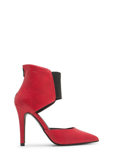 Bootie-licious Pointy Faux Leather Heels