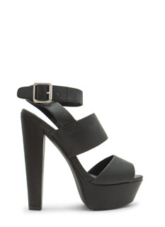 Great Wide Way Strappy Chunky Heels