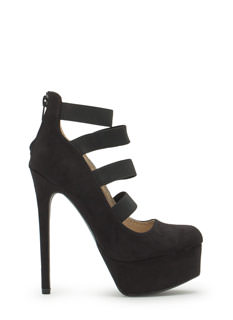 Four Like Ever Strappy Banded Platforms