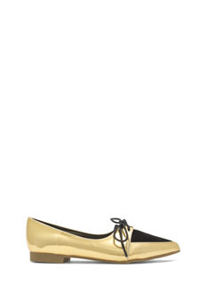 Don't Miss The Point Lace-Up Jazz Flats