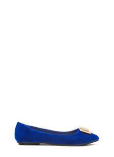 Pick The Lock Faux Suede Flats