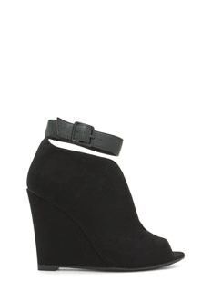 Top Notch Ankle Strap Bootie Wedges