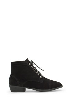 Voyager Velvet Lace-Up Booties