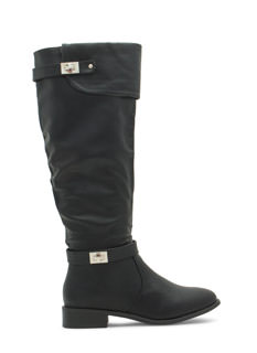Double Twist Lock Cuffed Boots