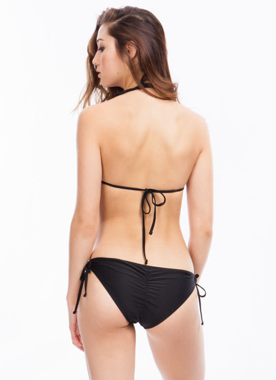 Tie Side Monokini BLACK