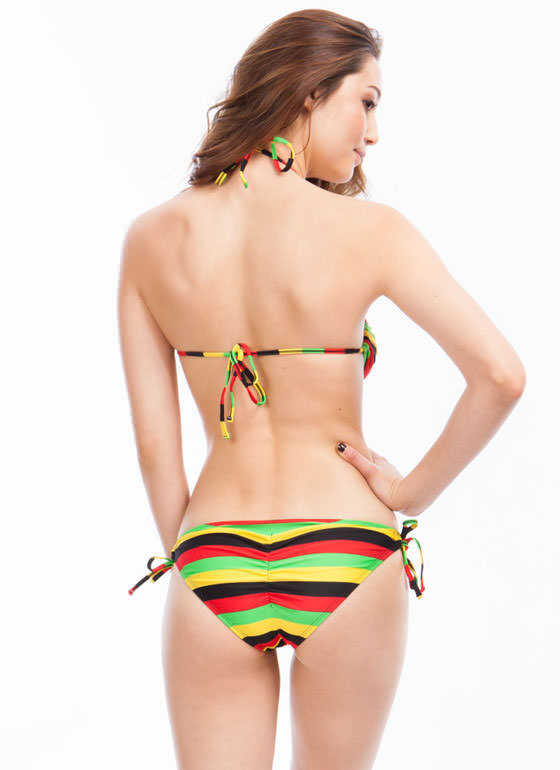 Ring Center Rasta Stripe Monokini MULTI