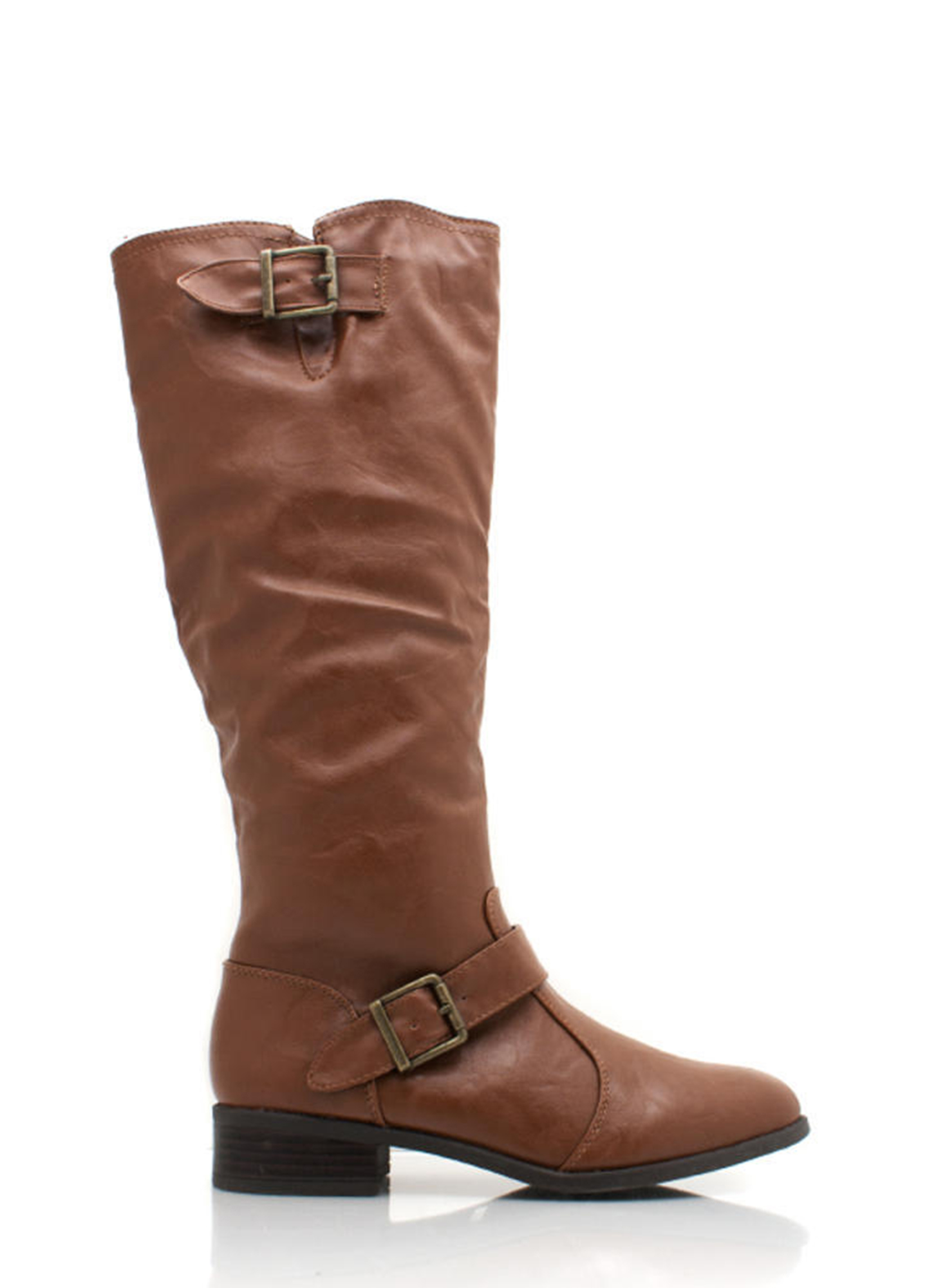 Buckle Strap Riding Boot CHESTNUT