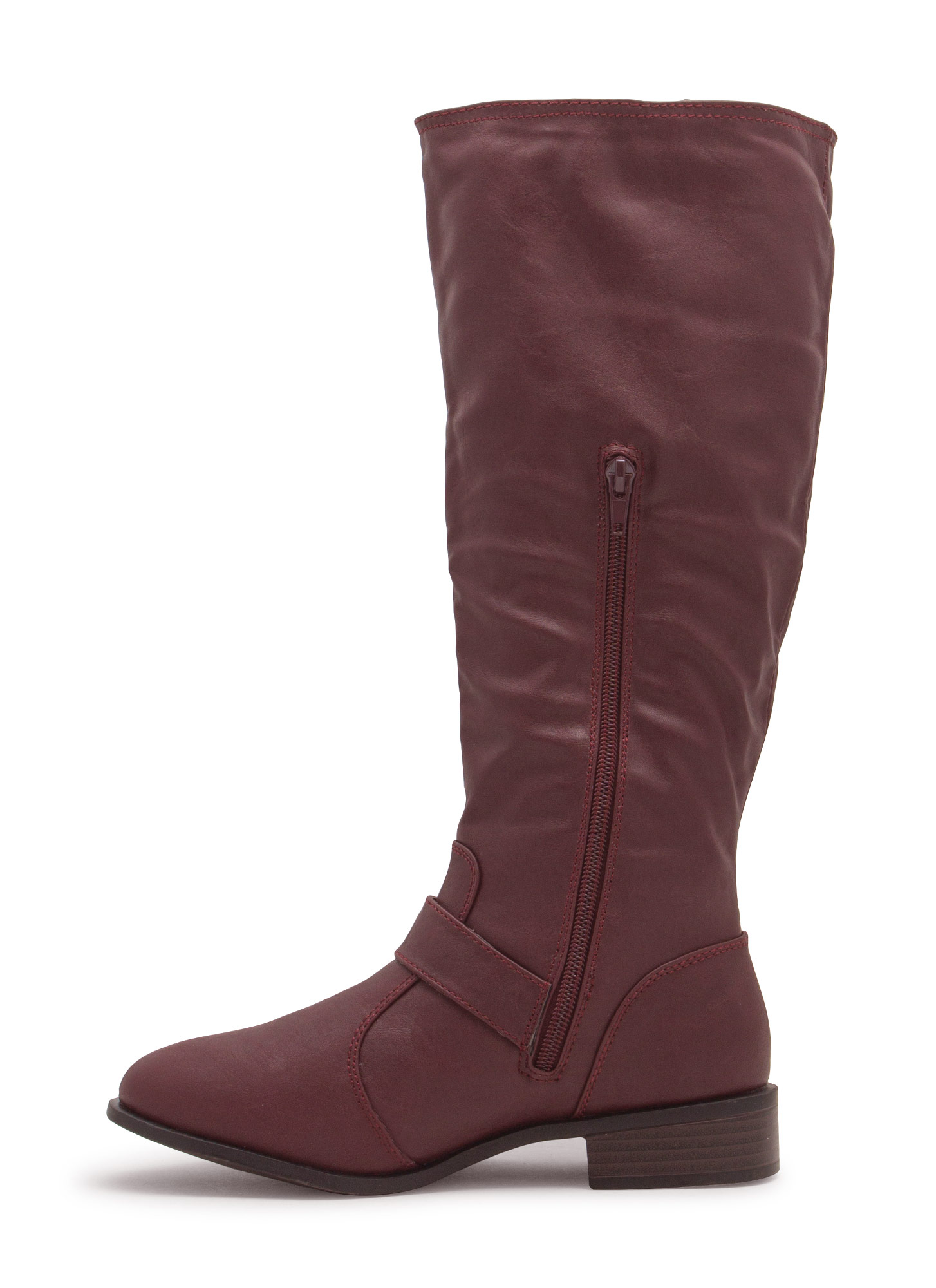 Buckle Strap Riding Boot OXBLOOD