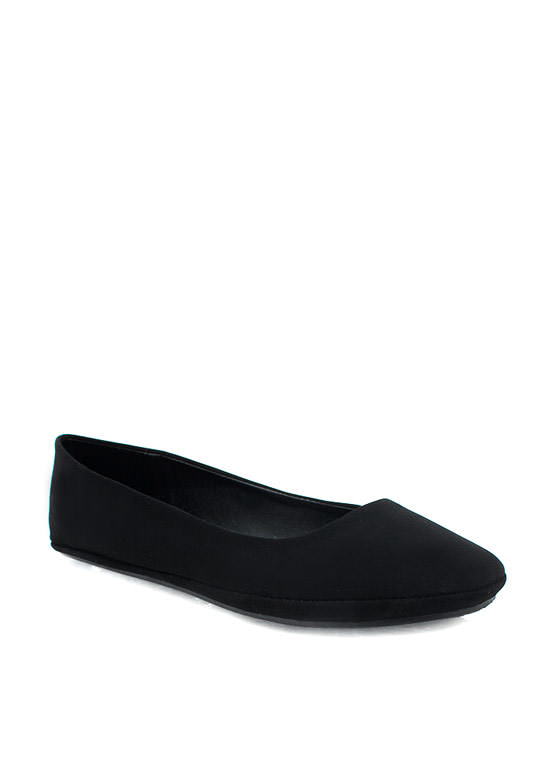 Solid Suede Flat BLACK