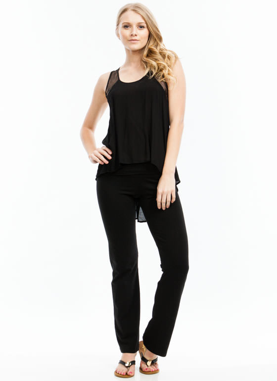 Jersey Yoga Pants BLACK
