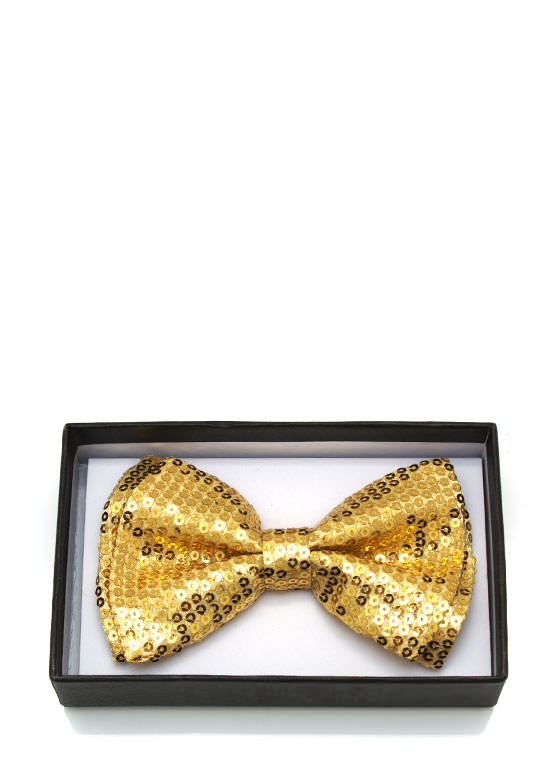 Sequined Bowtie GOLD