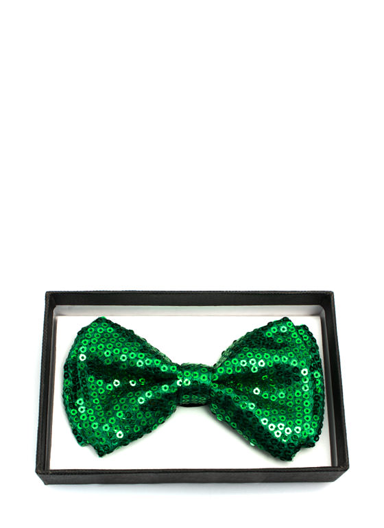 Sequined Bowtie GREEN