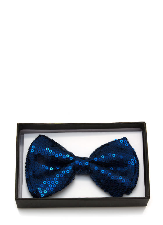 Sequined Bowtie NAVY